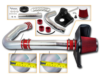 Red Cold Air Intake Kit for Dodge Challenger (2011-2018) with 3.6L V6 Engine