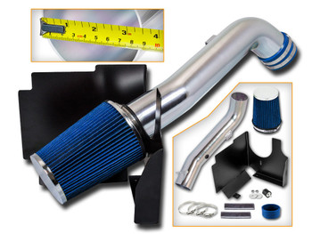 Blue Cold Air Intake Kit for GMC Sierra 2500HD/3500 (2001-2003) with 6.6L V8 Diesel Engine