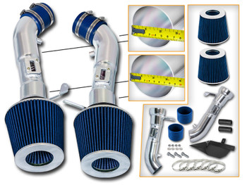 Blue Cold Air Intake Kit for Nissan 370Z (2009-2017) with 3.7L V6 Engine