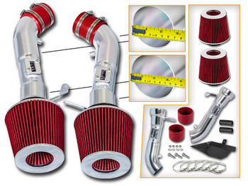 Red Cold Air Intake Kit for Nissan 370Z (2009-2017) with 3.7L V6 Engine