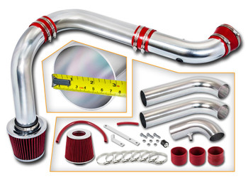 Red Cold Air Intake Kit for Dodge RAM 1500/2500/3500 (2003-2008) with 5.7L V8 HEMI Engine