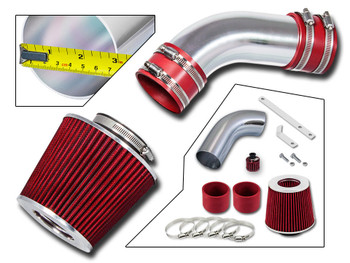 Red Sport Air Intake System for Audi A6 (2002-2005) with 3.0L SFI V6 Engine