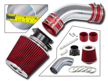 Red Ram Air Intake Kit for AUDI A6  (1996-2000) with 2.8L V6 Engine