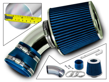 Blue Short Ram Air Intake Kit for Pontiac G6 (2005-2010) with 3.5L / 3.6L / 3.9L V6 Engine