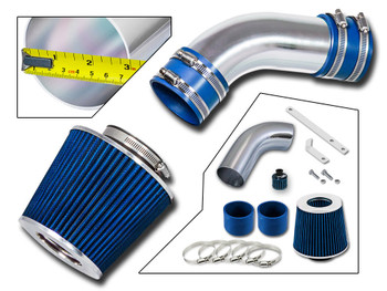 Blue Sport Air Intake System for Audi A6 (2002-2005) with 3.0L SFI V6 Engine