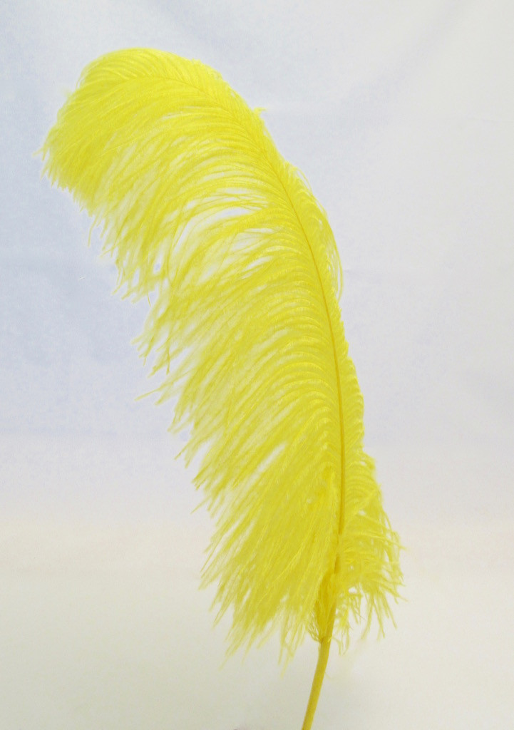 Yellow Large Ostrich Feather Plume
