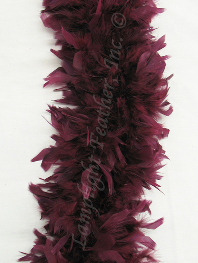 Burgundy Feather Boa heavy weight chandelle