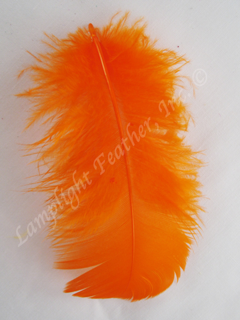 Orange Craft Feathers Turkey Plumage per ounce package