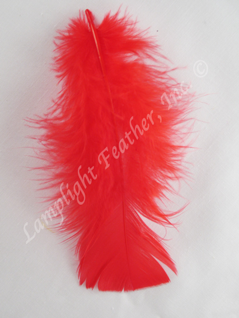 Red Craft Feathers Turkey Plumage per ounce package