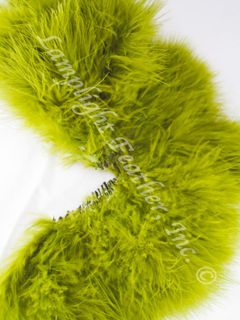 Marabou Feathers, strung, OLIVE