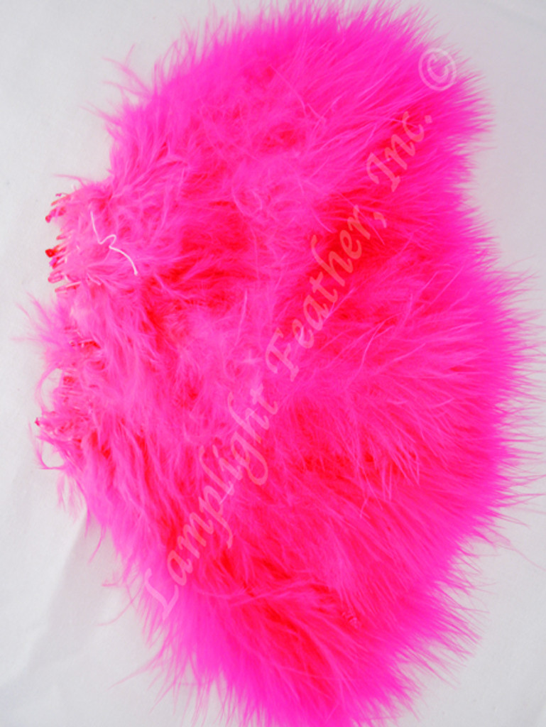 Marabou Feathers, strung, Hot Pink, per 6 inches