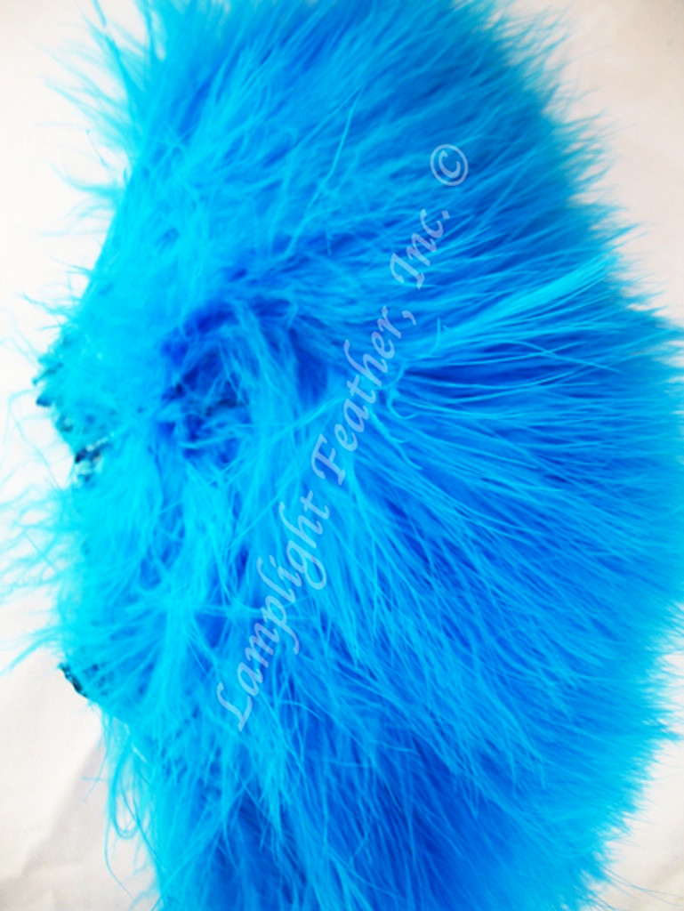 Marabou Feathers, strung, Turquoise,
