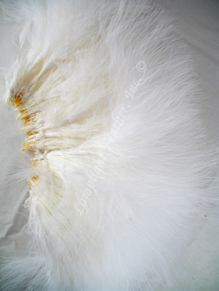 Marabou Feathers, strung, White