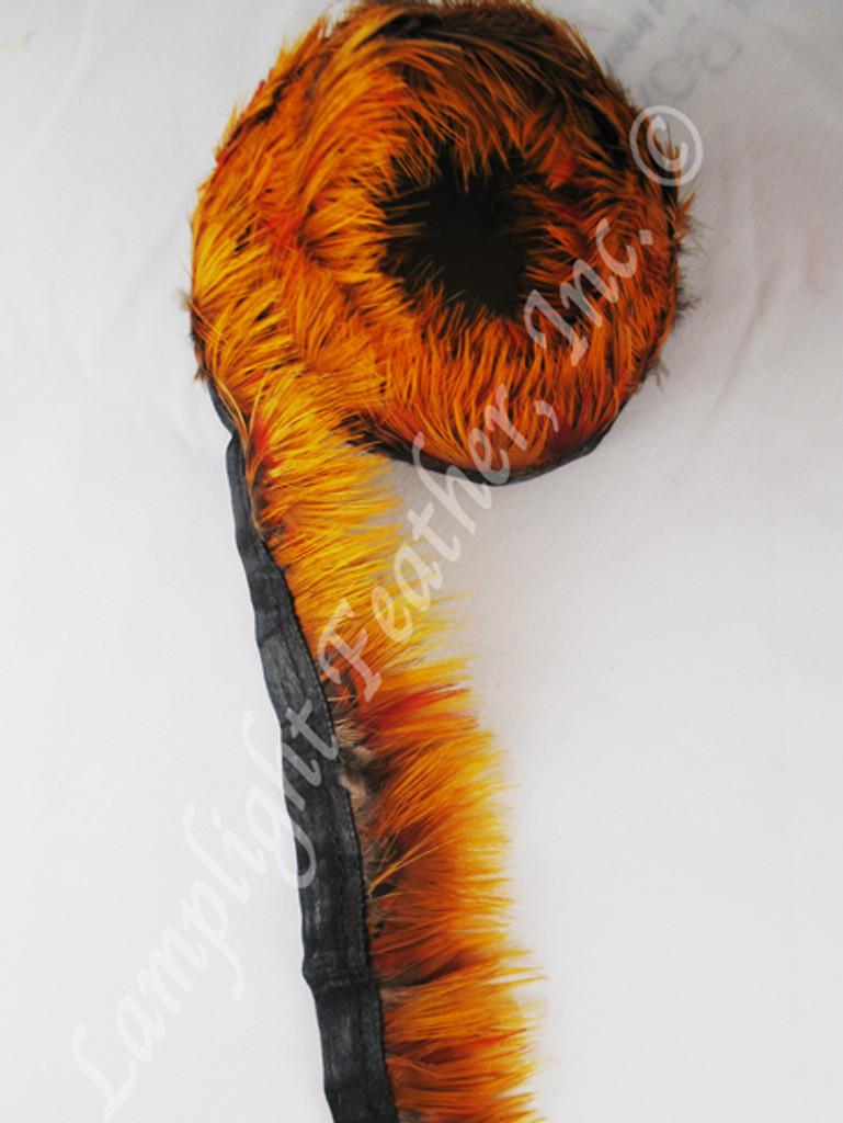 Feather Trim, Pheasant, NATURAL GOLD, per YARD