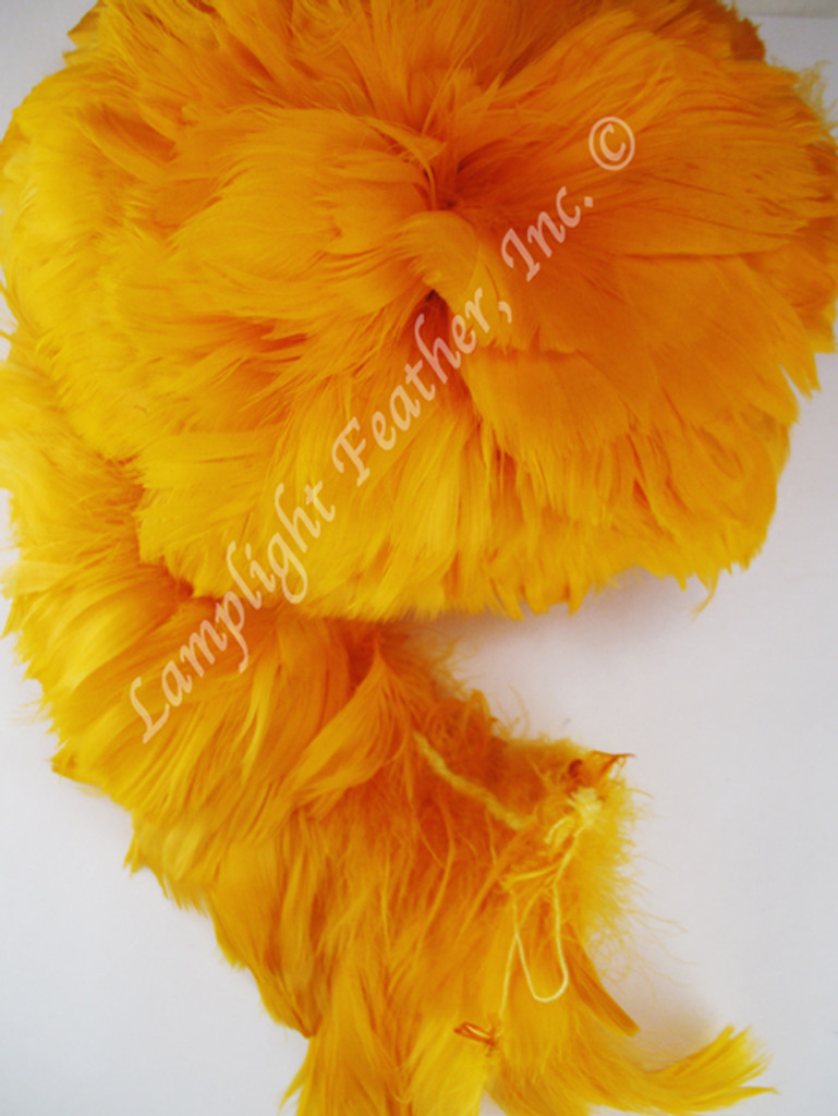 GOOSE COQUILLES, dyed GOLD, per foot