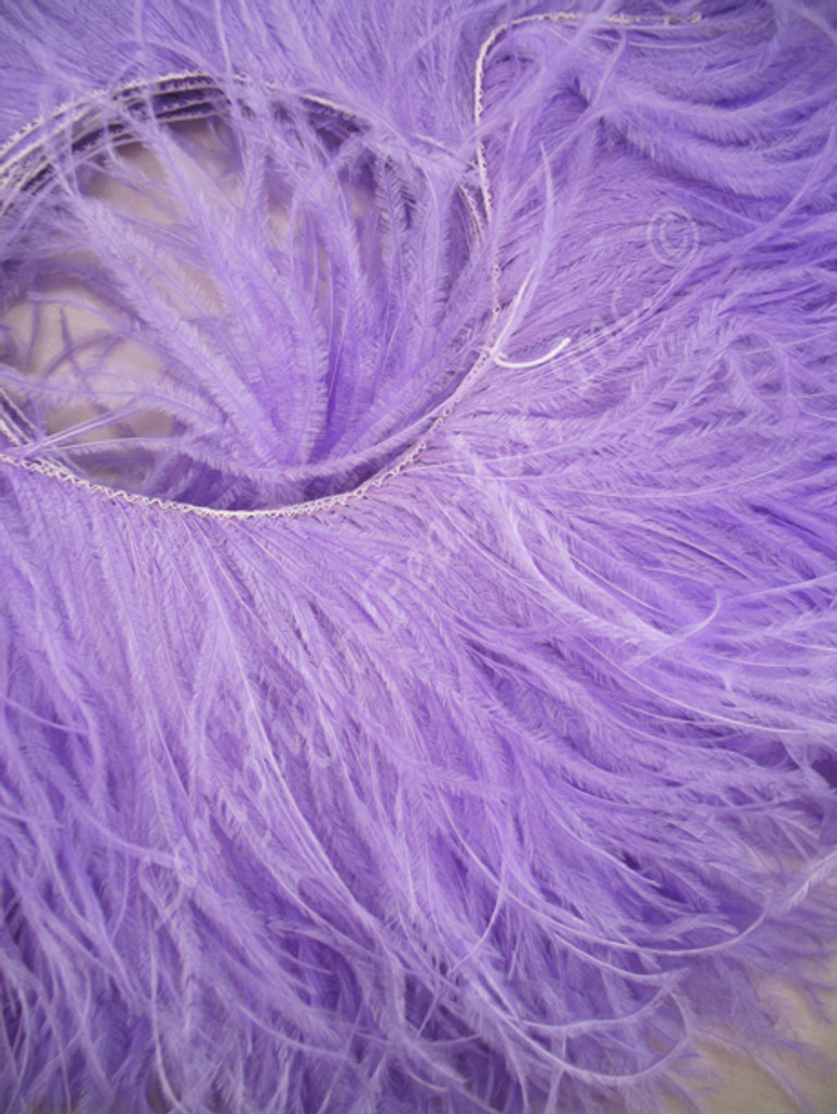 OSTRICH FEATHER FRINGE,  Premium, Lavender, per foot