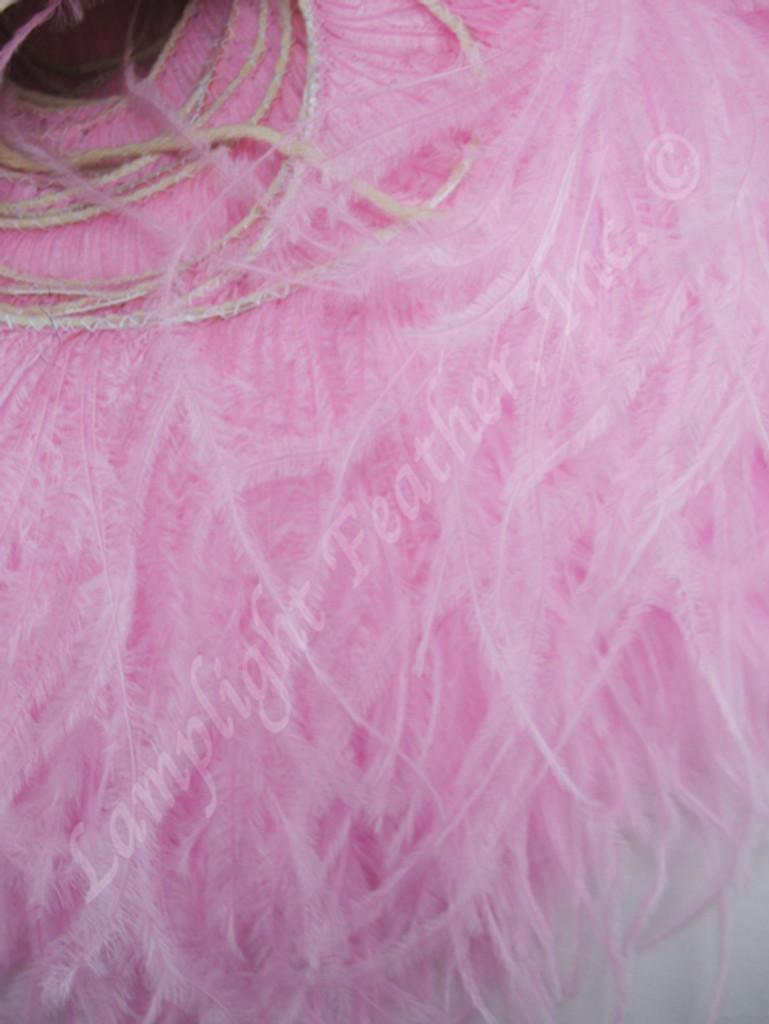 OSTRICH FEATHER FRINGE,  Premium, Light Pink, per foot