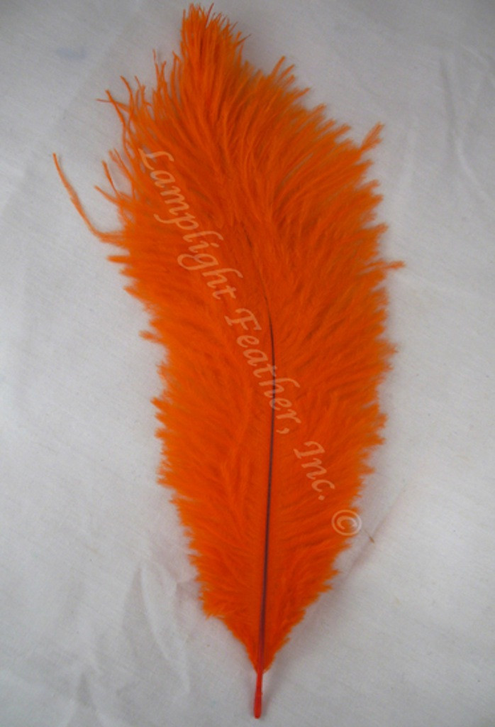 Orange  OSTRICH Feathers, STANDARD, 12-16 inch, per EACH