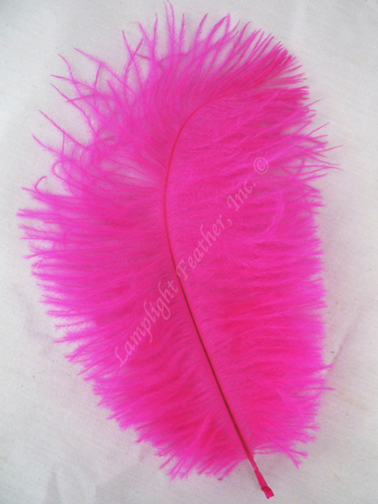 OSTRICH Feathers, MINI, Fuchsia,