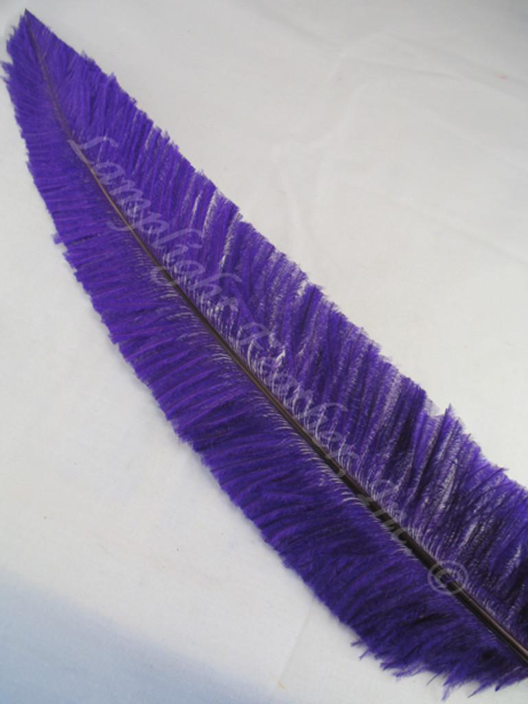 OSTRICH NANDU, SHORT, Purple 8-12 inch per Each