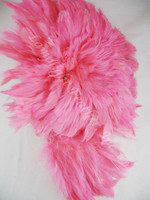 Rooster Feathers Schlappen, 3-5 inch, dyed Hot Pink, per FOOT