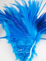 TURQUOISE Rooster Saddle Feathers 4 - 5 Inch Per ounce