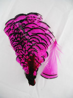 TIPPET CAPE, LADY AMHERST Pheasant, dyed Hot Pink