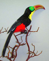 Toucan Decorative Artificial Artificial Bird,22 inch, per Each