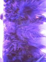 Purple Feather Trim Chandelle Premium per yard