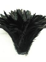COQUE, 5-8 inch, Black, strung, per YARD