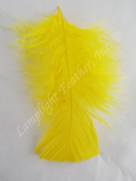 Yellow Craft Feathers Turkey Plumage per ounce package