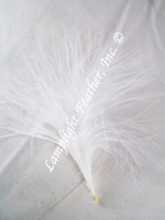 Marabou Feathers, strung, White, per 3 inches