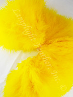 Marabou Feathers, strung, Yellow,
