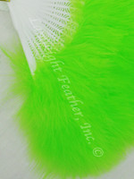 Feather Fan, Marabou, lime, per each