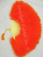 Feather Fan Marabou Orange