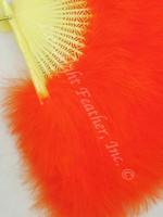 Feather Fan, Marabou, Orange, per each