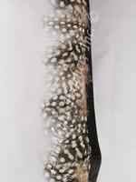 Feather Trim, Guinea, NATURAL per yard