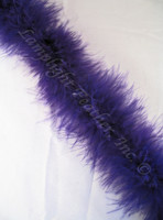 Purple Feather Boa Marabou 15 gram per Each