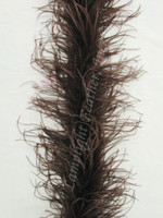 Dark Brown Feather Boa, Ostrich 2 ply  Lamplight Feather.