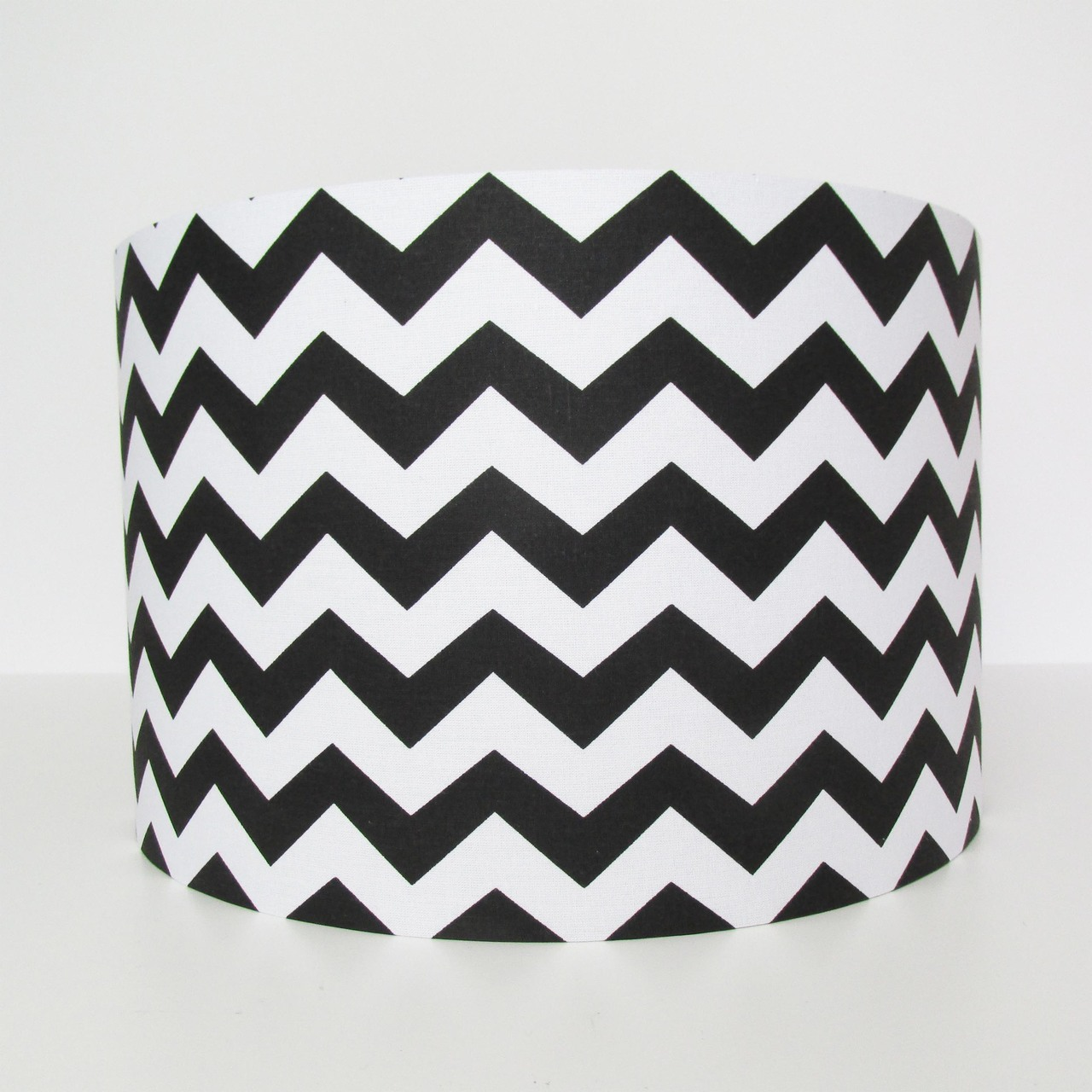 Black Chevrons Lampshade with White Zig Zags