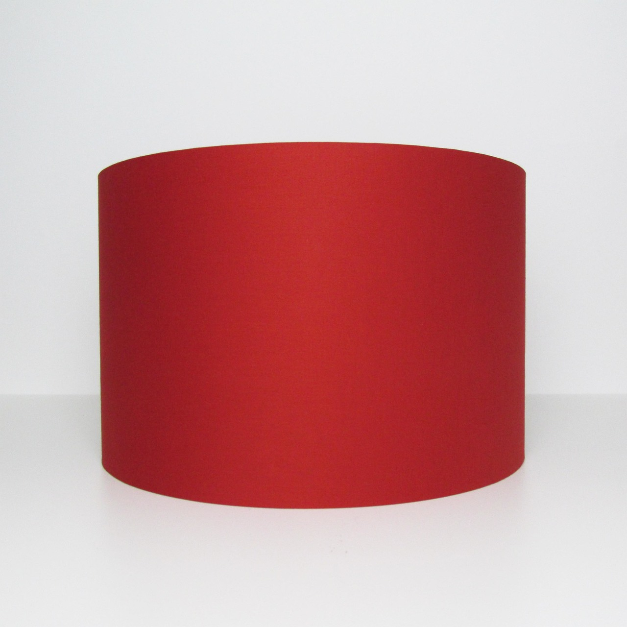 Red Cotton Lampshade - Standing