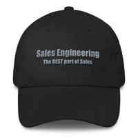 Sales Engineering (White/Grey) Classic Dad Cap