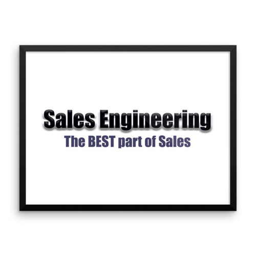 Sales Engineering Framed poster