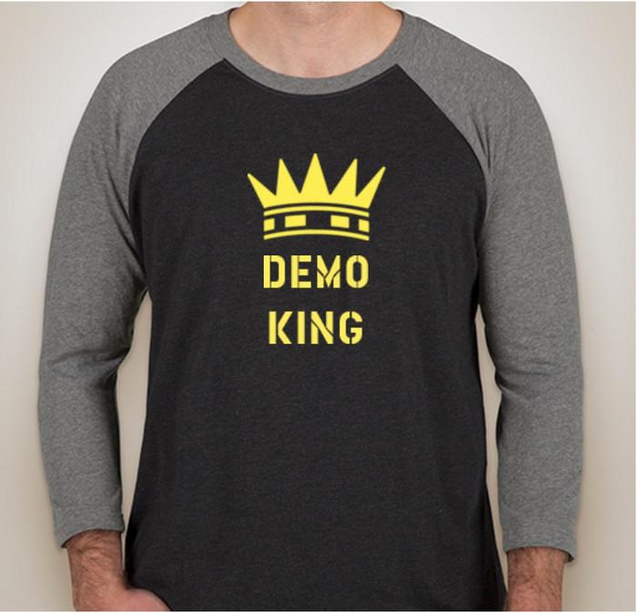 Demo King - Baseball Raglan for Sales Engineers