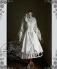 Front View (White Ver.) with sleeves tied up Co-ordinates Show: inside dress DR00105N, pannier UN00019, hat P00533, blouse TP00088N