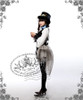 Model show hat P00587, blouse TP00088N, choker from DR00112N, bloomers UN00017