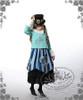 Model Show (Mint Blue + White Fur Ver.) (hat: P00587, JSK: DR00112N, black skirt: SP00166, leggings: P00182)
