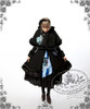 Model Show (Dark Blue + Grey Embroidery) (hairdress: P00542, wool coat + cape: CT00221, JSK: DR00112N, black skirt: SP00166, leggings: P00182)