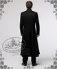 Medieval Priest Elegant Gothic Aristocrat Large Cross Wool Coat Long Trench For Lady