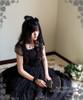 Model Show (Black Ver.) (choker: AD00606, dress set: DR00178L, wristlet: AD00609, fan: P00580)
